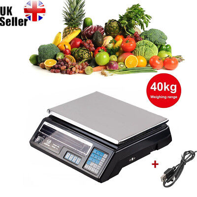 40Kg Electronic Fruit Scale Digital Veg Commercial Shop Retail Price & Weighing