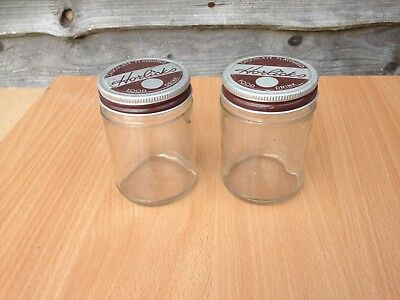 Horlicks glass jars x 2 , vintage jars