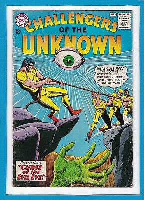 "Challengers Of The Unknown #44_July 1965_Fine_""evil Eye Curse""_Silver Age Dc!"