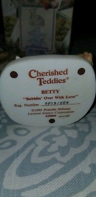 Cherished Teddies Betty #626066 - Bubblin' Over With Love with baby teddy bear