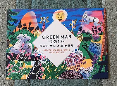 Green Man Festival 2017 Flyer Double sided PJ Harvey Ryan Adams Future Islands