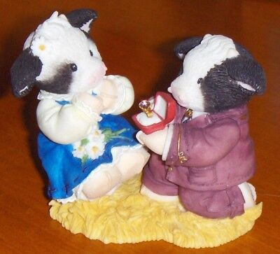 "Enesco Mary's Moo Moos 1998 ""will Moo?"" Proposal Euc"