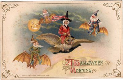 A Halloween Morning, Postcard Winsch Series 450/21 #3938 - Copyright 1914