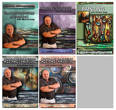 Painting Instruction, Art, How To,DVD set of 5, narrated by Michael Lang