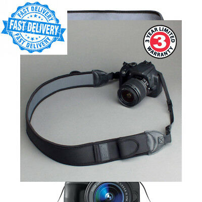 USA Gear DSLR Camera Neck Strap with Black Neoprene Design and Quick Release...