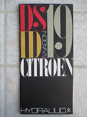 1965 1966 Citroen DS19, ID19 and Wagon Hydraulics Operation Booklet