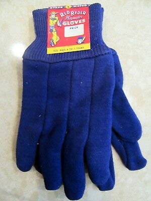 Rare Circa 1950s Red Ryder BB Gun Western Cowboy Gloves Mint Unused With Label