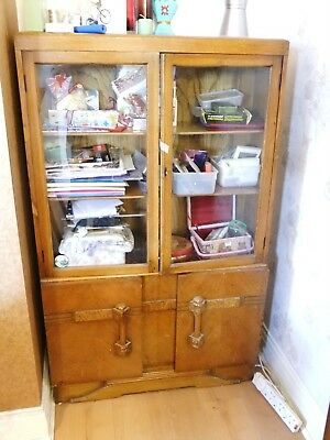Art Deco / vintage / shabby chic / upcycling display cabinet
