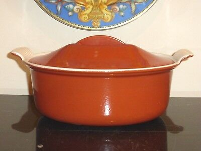 Le Creuset Cousances Vintage Brick Red Color  #26 Oval Dutch Oven