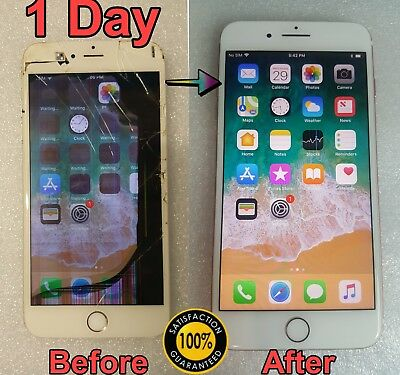 iPhone 8 Plus Cracked Glass and LCD Broken Screen Repair Service
