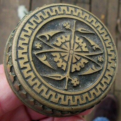 Antique 1881 Branford Lock Works Victorian Brass Door Knob