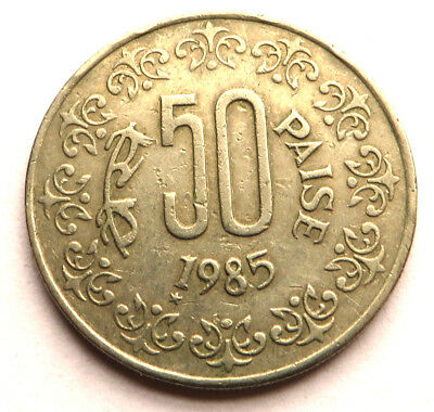 India-Republic 50 Paise 1985 Copper-Nickel KM#65