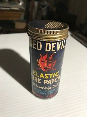 Red Devil Elastic Tire Patch Tire Tube Repair Patch Container Greensboro, N.C.