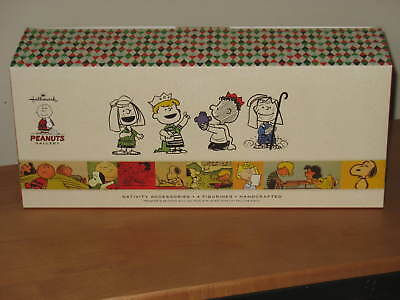 Hallmark Peanuts Nativity Accessories Kings and Shepherds 4 pieces - NIB