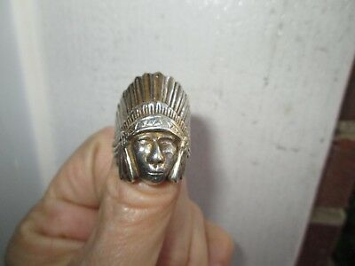 Antique/vintage Dug Relic Native American /indian Head Ring