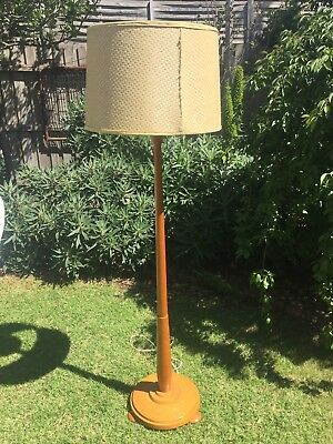 Vintage Retro Timber Standard Floor Lamp With Shade