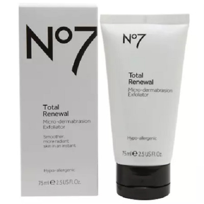 Boots No7 Total Renewal Micro-dermabrasion Exfoliator 75ml (BRAND NEW, BOXED)