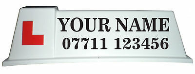 Driving School Roof Sign Graphics, Stickers for Car Roof Sign - (CS09)