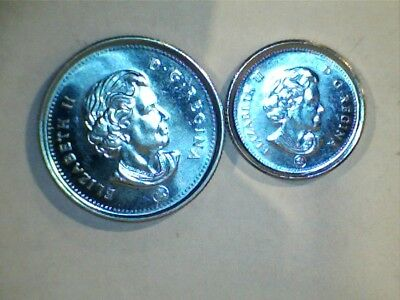 2009 Canada 25, and 10 Cent Unc.