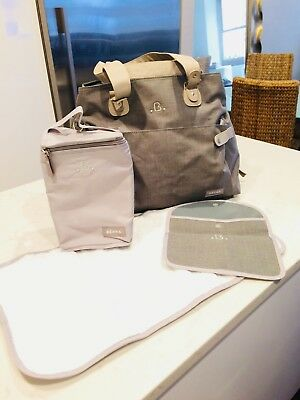 BEABA Stockholm Diaper Bag Grey New Unused