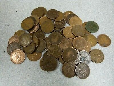 Old Great Britain Coin Lot 675 Coins