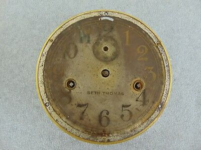 Old Seth Thomas Ship Ships Maritime Wall Clock Movement & Dial Re-Store / Parts