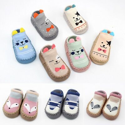 New Kids Baby Girl Toddler Cartoon Socks Anti-slip Sock Shoes Boot Floor Slipper