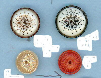 4 china whistle buttons.