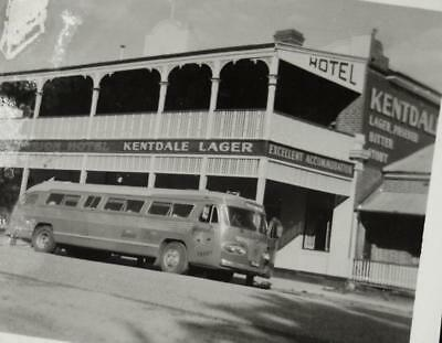 Vintage c1950s AUSTRALIAN PHOTOGRAPH- Criterion Hotel with Old Pioneer Tour Bus