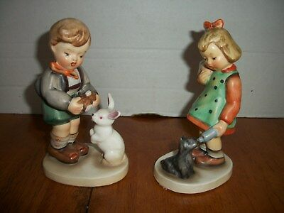 "Pair of Vintage Napco Boy & Girl Figurines~""Hold Still"" & ""Little Mother"""
