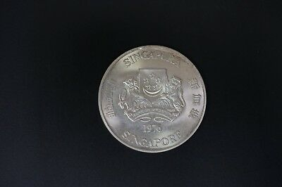 Singapore 1976 silver $10 UNC condition with 0.8990oz ASW (v402)