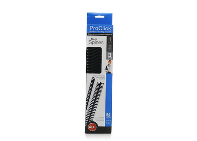 """GBC ProClick easy editing spines 25 pack 1/2"""" 85 sheet capacity"""