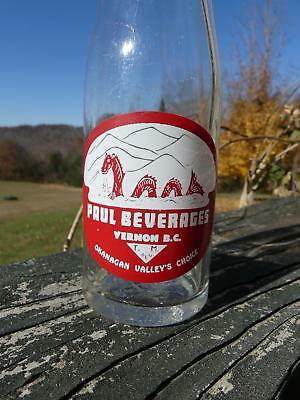 ACL Soda Bottle Paul Beverages Vernon BC Dragon Label with Face