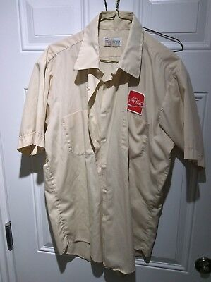 Vintage Enjoy Coca Cola Delivery Driver Shirt Circa 1974