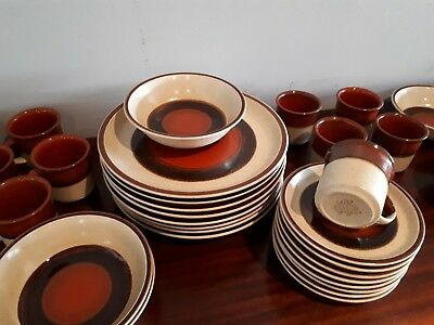 Vintage Retro Dinner Set 33 pieces Apollo Stone by Atelier Sone Japan