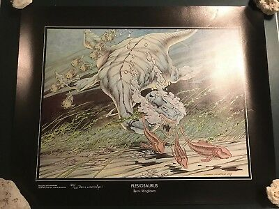 Berni Wrightson Plesiosaurus Print Signed & Numbered 86/100 The Studio