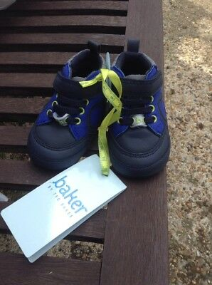 Ted Baker Baby Boots Black / Blue Reflective 0-3 Months