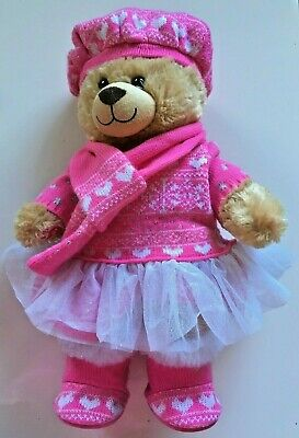 Build a Bear -with Sleeping Bag - and brush