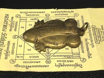 Genuine Thai Amulet Lp Tadaeng Wat ChaiYa Turtle Palakkik Good Life Luck Pendant