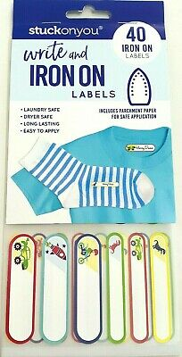 Write And Iron on Clothing Personalised Name Tag Stickers Label Waterproof