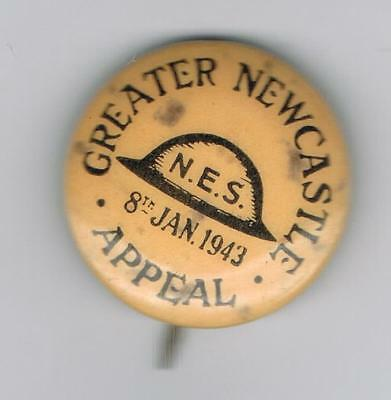 Greater Newcastle Appeal 1943 Ww2 Appeal Tin Badge
