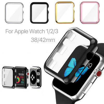For Apple Watch iWatch Series2 3 4 Protector Cover Case Screen Protector 42 44mm