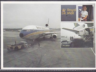 Postcard Royal Mail Airmail Card Spec Canx 1981 2 Scans