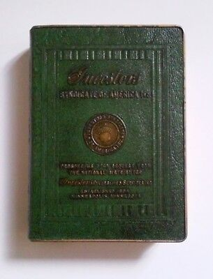 VINTAGE BOOK COIN BANK INVESTORS SYNDICATE of AMERICA MINNEAPOLIS, MN (NO KEY)