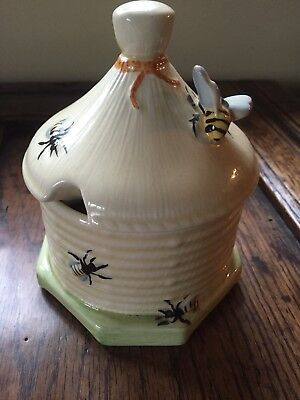 Vintage Crown Devon Honey Pot.