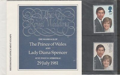 1981 Royal Wedding, Charles And Diana Presentation Pack
