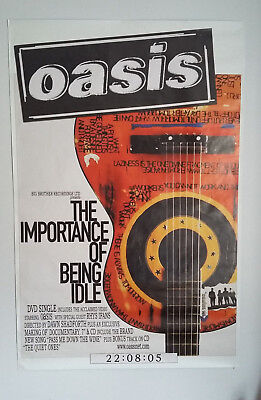 OASIS Large Promo Poster 'The Importance Of Being Idle' '05 Noel Liam Gallagher