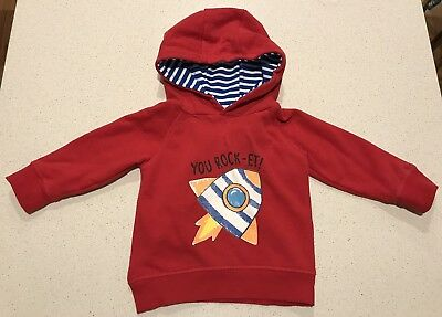 Sprout Hoodie - You Rock-et - RED - SIZE 1 (12-18 months)