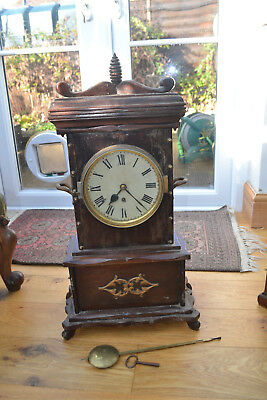 very large fusee bracket clock for restoration