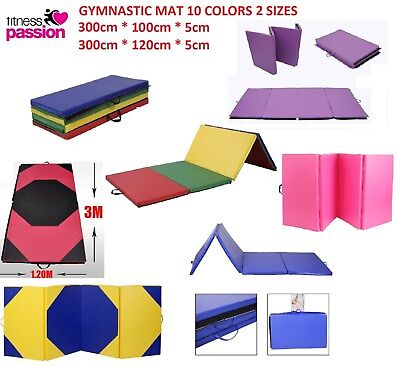 Super Large 300cm x 120 100cm Gymnastics Folding Gym Yoga Exercise Mat